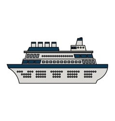 Isolated cruise design vector