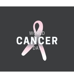 World cancer day design vector