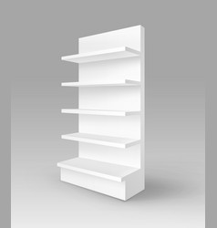 Blank empty exhibition trade stand shop rack vector