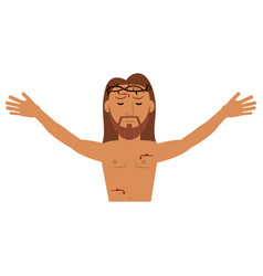 Jesus christ resurrection catholic image vector