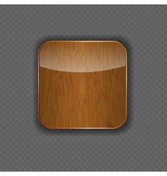 Wood application icon vector