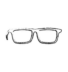 glasses accessory fashion lens frame icon vector image