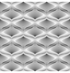 Design seamless monochrome mosaic pattern vector image