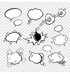 Comic set bubbles vector