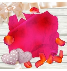 Petals on wooden background EPS 10 vector image
