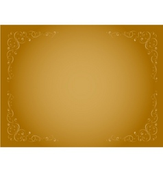 Simple gold ornamental decorative frame vector