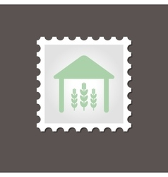 Barn stamp outline vector