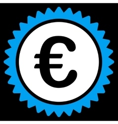European quality stamp icon vector