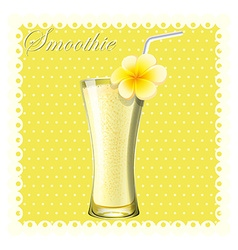 Yellow smoothie in glass vector