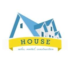 House logo design template realty theme icon vector