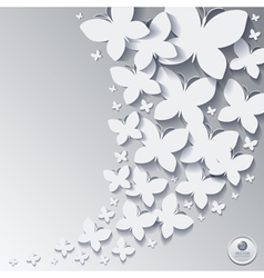 Abstract butterfly background or card vector image