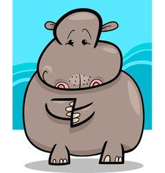 Hippo or hippopotamus cartoon vector