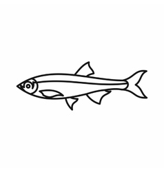 Herring fish icon outline style vector