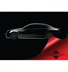 abstract car background vector image