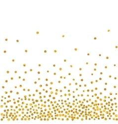 Abstract pattern of random falling golden dots vector