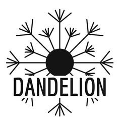 Aerial dandelion logo icon simple style vector