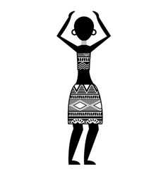 African woman figure icon vector