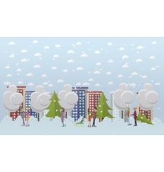 Christmas mood concept in flat vector