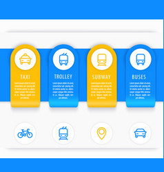 City transport infographics elements vector