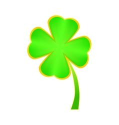 clover four leaf for saint patricks day vector image