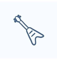 Electric guitar sketch icon vector image