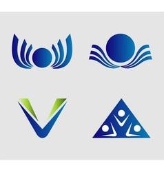 Elegant and modern logo elements set vector image vector image