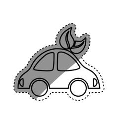 Green car vehicle vector