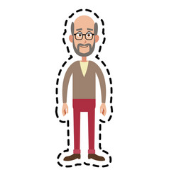 Happy man cartoon icon image vector