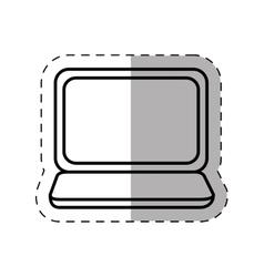 laptop notebok mobile technology thin line vector image