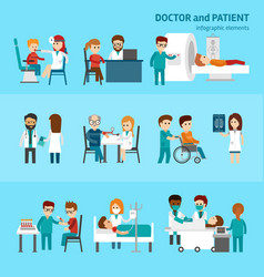 medical infographic elements with doctor and vector image vector image