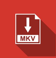 mkv file document icon download mkv button icon vector image vector image
