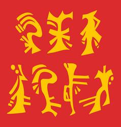 Oriental symbols vector