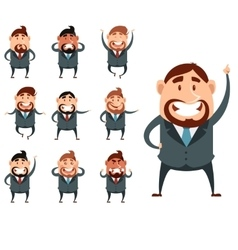 Set of business men2 vector image