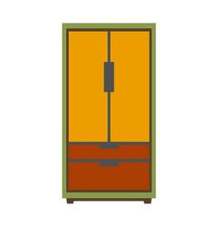 Simple big wardrobe vector