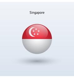 Singapore round flag vector