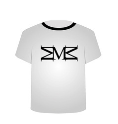 T Shirt Template- Capital letter M vector image