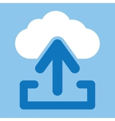 Upload from cloud icon vector image vector image