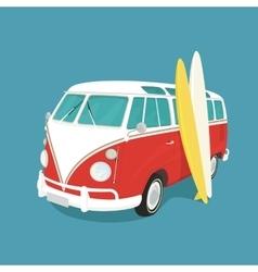Van surf retro vector image