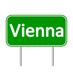 Vienna road sign vector