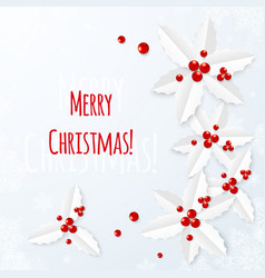 White paper Christmas greeting card vector image