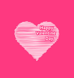 white scribble valentine day heart vector image