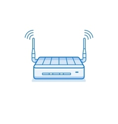 Wi-fi router icon vector