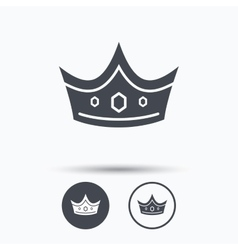 Crown icon royal throne leader sign vector