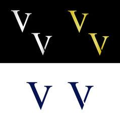 Simple capital letter v vector