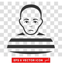 Prisoner eps icon vector