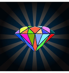Creative diamond vector