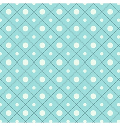 Seamless polka dot pattern in retro style vector