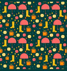 Autumn stuff pattern vector