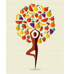 India yoga fruit tree vector image