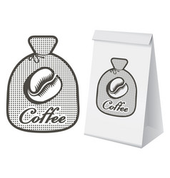 Label for coffee in the form of a bag vector